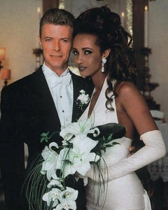 David Bowie Iman Wedding Showing Corsage